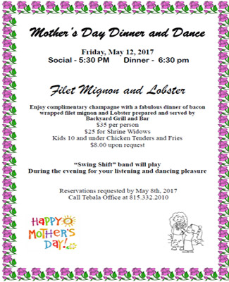 MothersDay-Dinner and dance